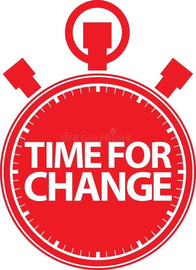 Hora para o ícone vermelho do cronômetro da mudança, vetor ilustração stock