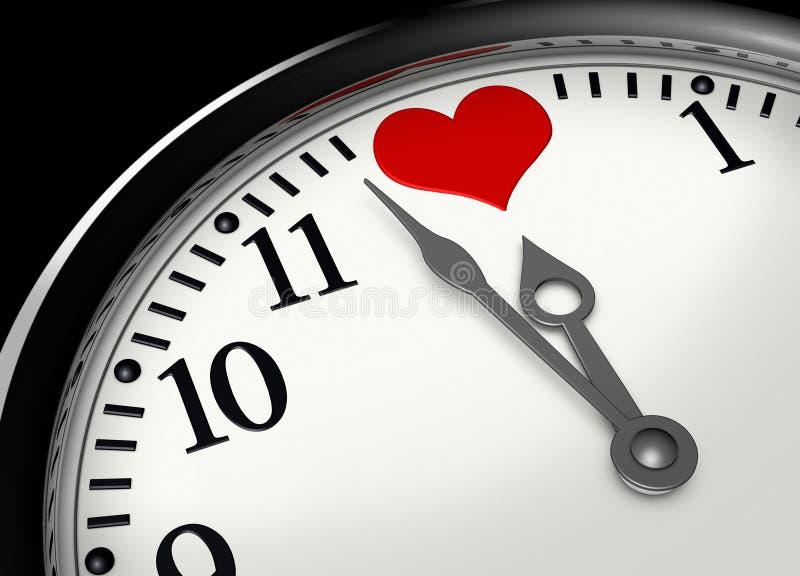 Hora para o amor ilustração royalty free