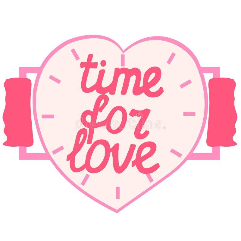 Hora para o amor ilustração stock