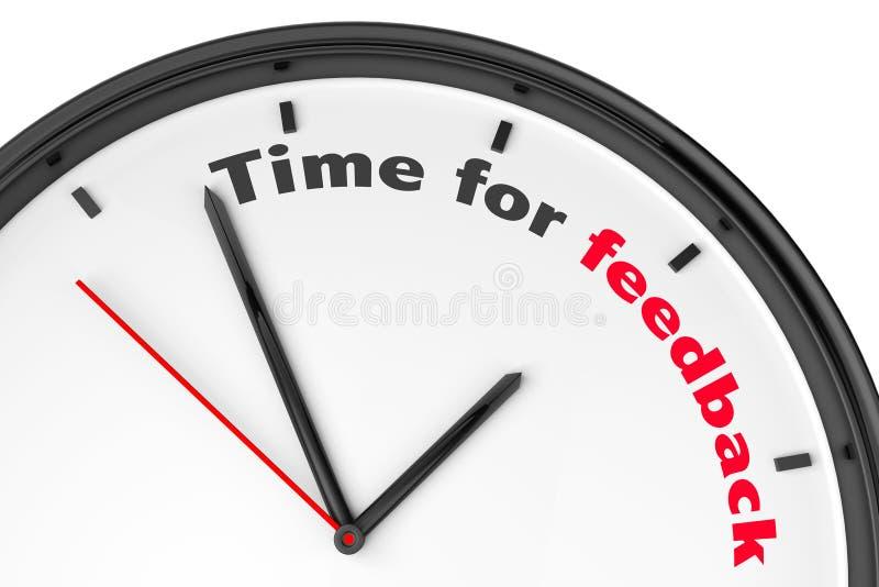Hora para o conceito do feedback ilustração stock