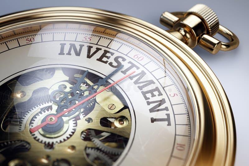 Hora para o conceito do investimento ilustração do vetor