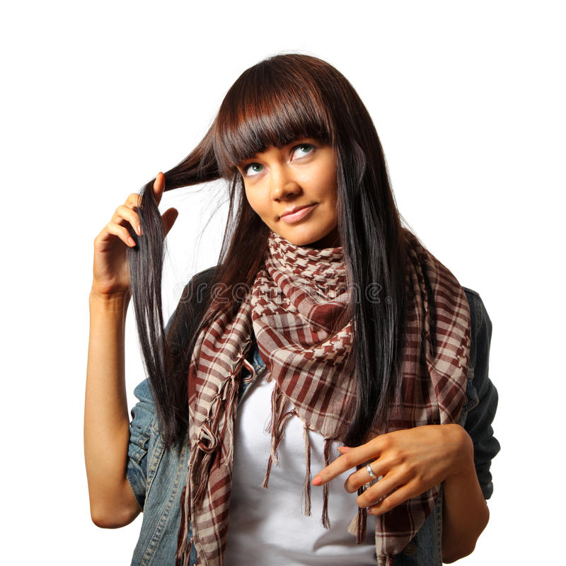 Hora para o corte de cabelo? foto de stock royalty free
