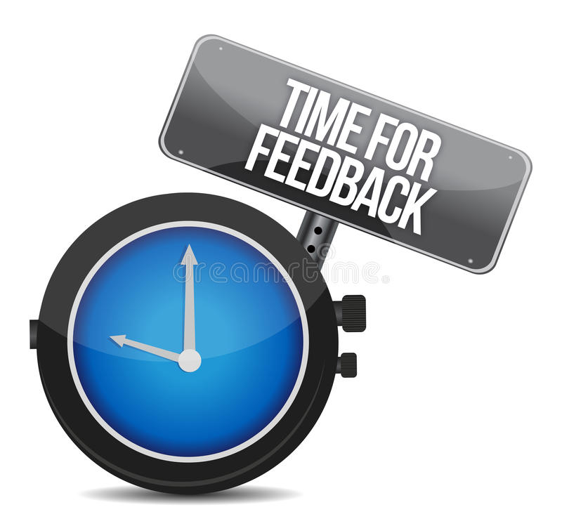 Hora para o feedback ilustração royalty free