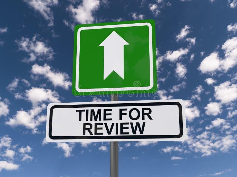 Hora para o guidepost da revisão imagem de stock royalty free