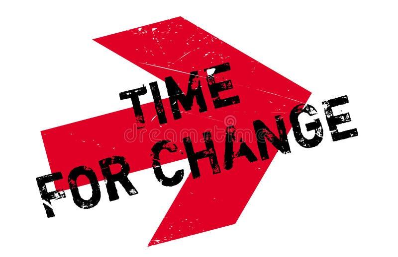 Hora para o selo da mudança ilustração stock