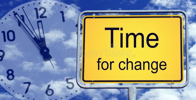Hora para o sinal da mudança fotos de stock