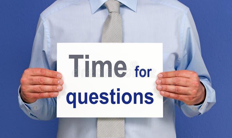 Hora Para O Sinal Das Perguntas Imagens de Stock Royalty Free