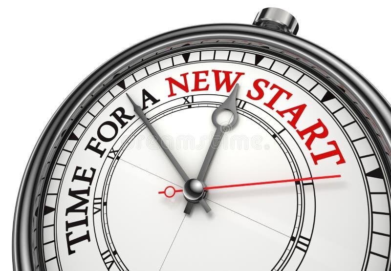 Hora para un nuevo comienzo ilustración del vector