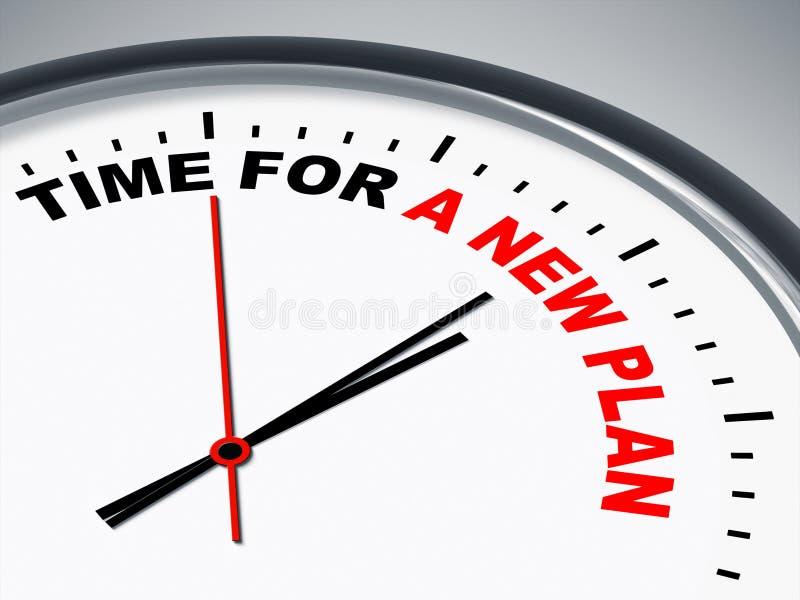 Hora para un nuevo plan ilustración del vector