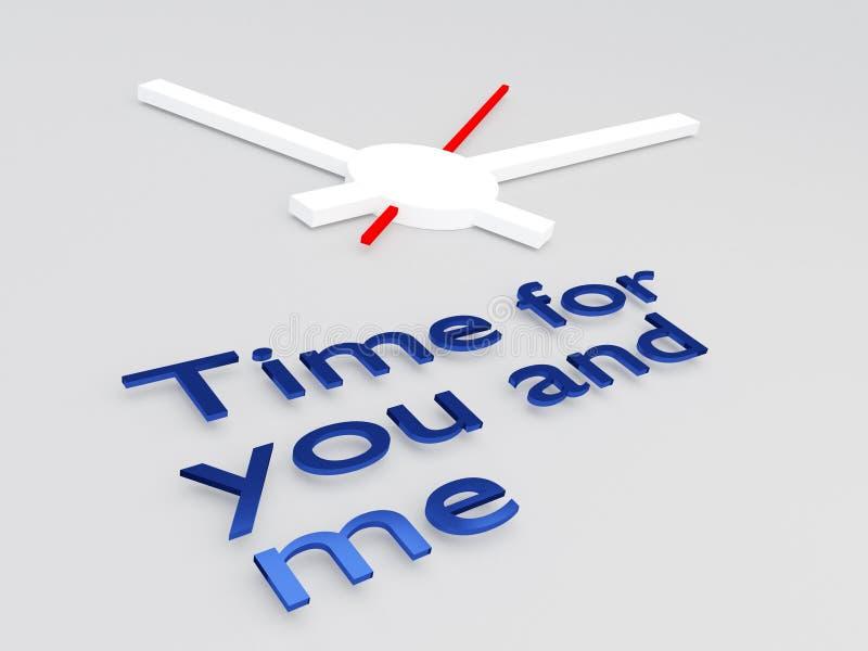 Hora para usted y mí concepto ilustración del vector