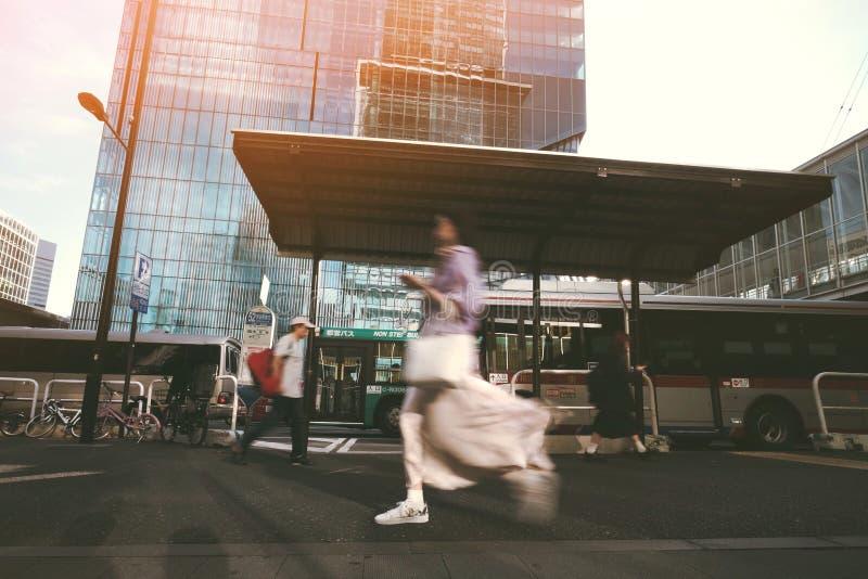 Hora punta en Tokio fotos de archivo
