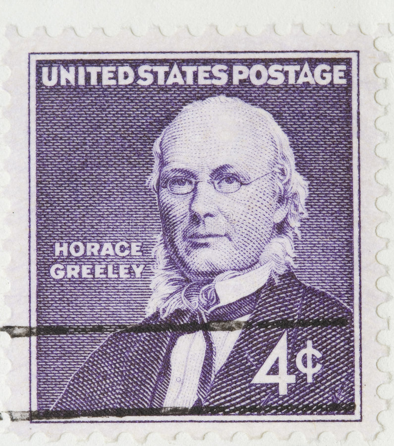 Horace Greeley Vintage 1960 Postage Stamp royalty free stock photography
