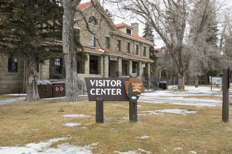 Horace M Albright Visitors Center, Mammoth Hot Springs, Yellowst image libre de droits
