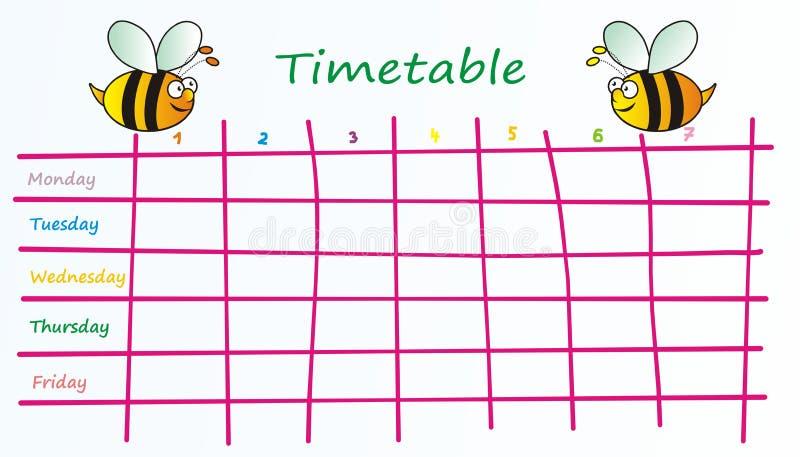 Horaire-abeilles illustration de vecteur