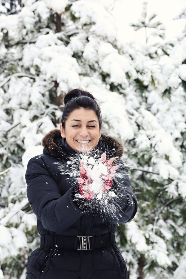 Horaire d'hiver heureux image libre de droits