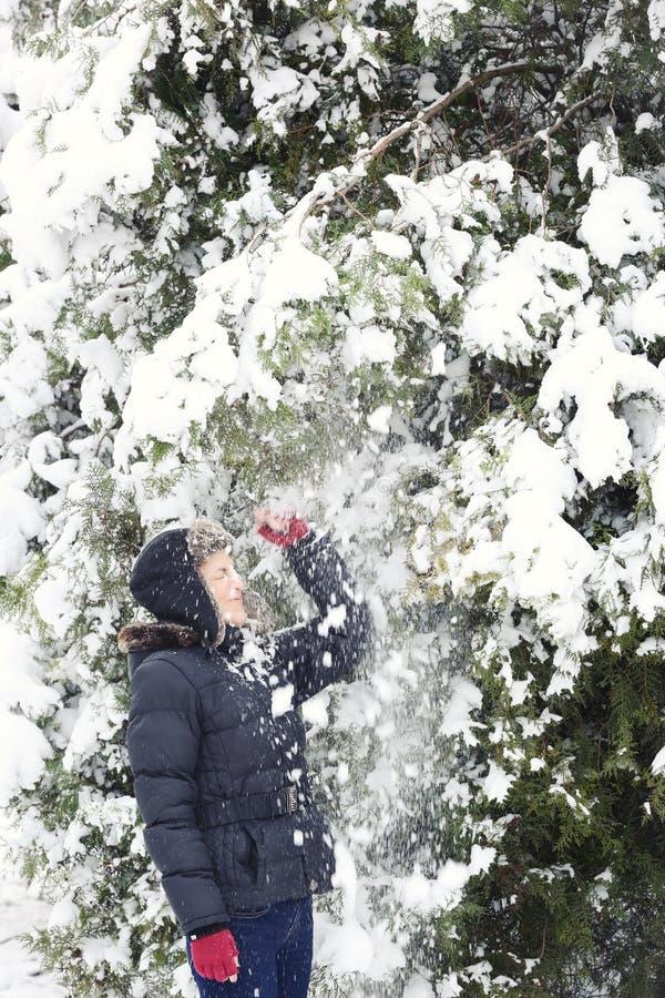 Horaire d'hiver heureux photographie stock libre de droits