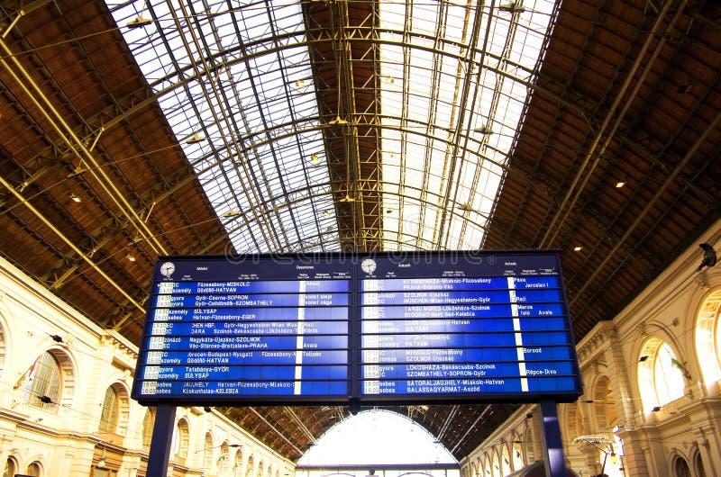 Horaire de train photographie stock libre de droits