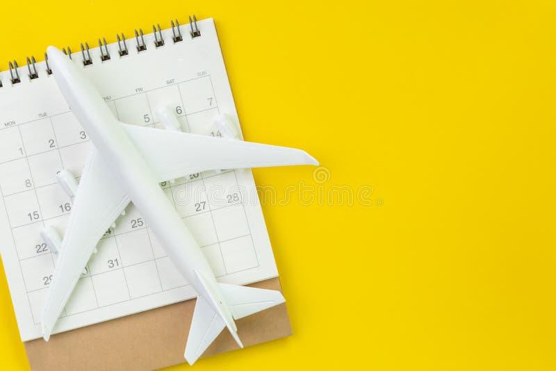 Horaire de voyage ou planification, touriste, vacances, configuration plate ou dessus photos libres de droits