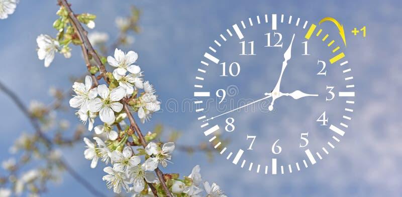 Horario de verano Cambie el reloj al tiempo de verano imagen de archivo libre de regalías