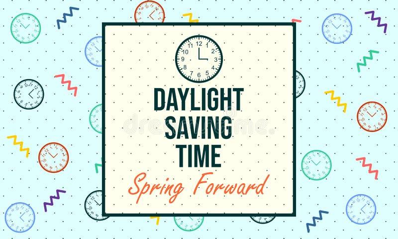 Horario de verano Primavera delantera - vector ilustración del vector