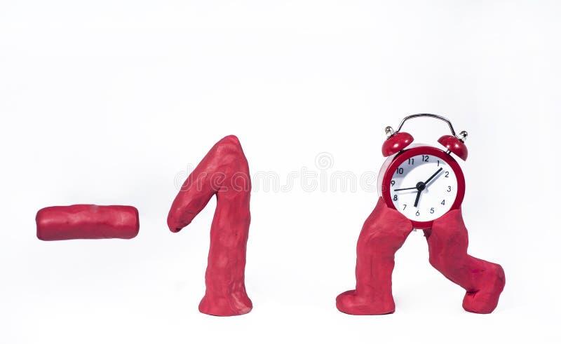 Horario de verano Reloj de pared que va invierno Abstracción del otoño stock de ilustración