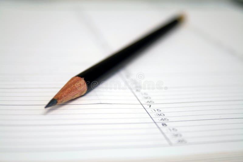 Horario del lápiz imagen de archivo