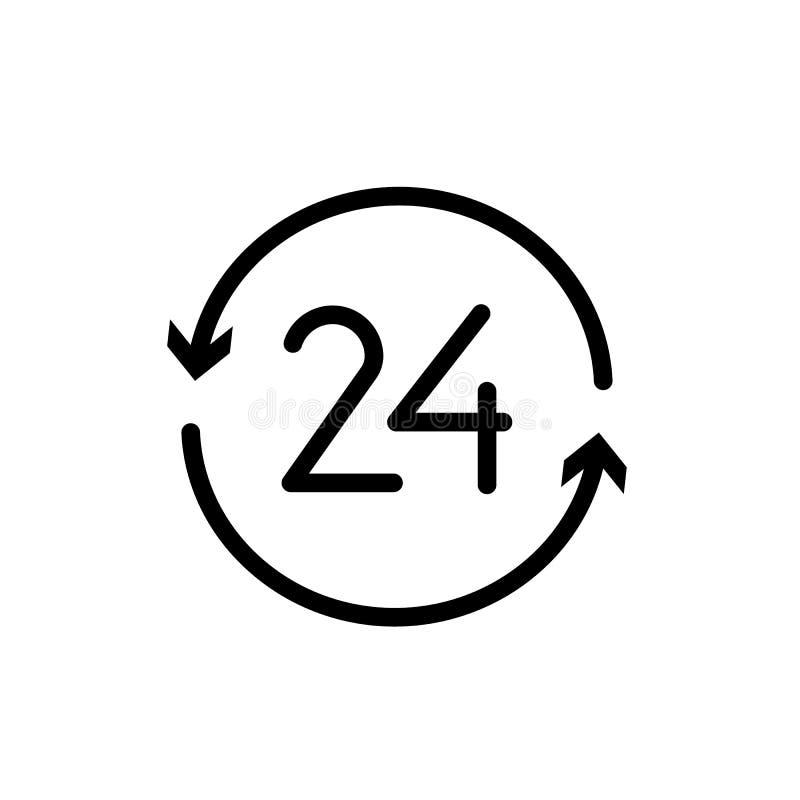 24 horas abiertas de vector del icono libre illustration
