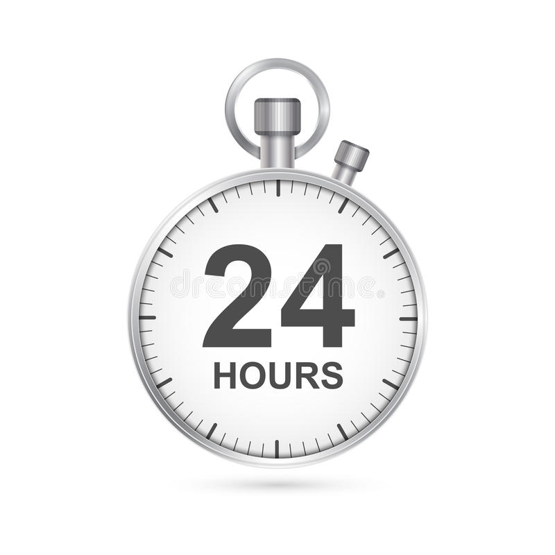 24 horas de ícone do serviço ao cliente ilustração do vetor
