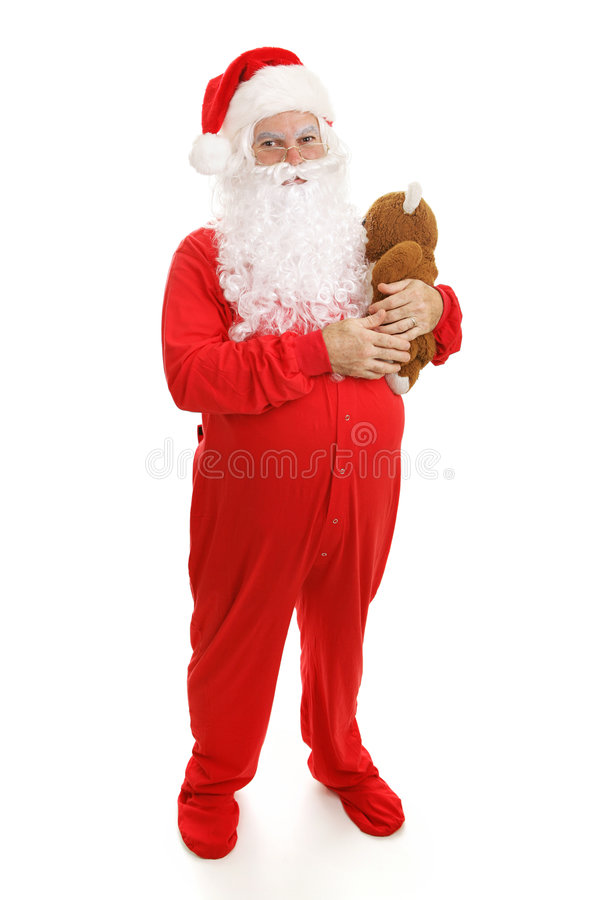 Horas de dormir Papai Noel imagens de stock