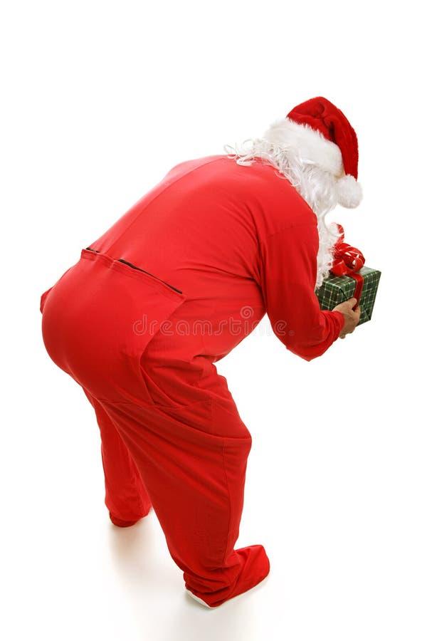 Horas de dormir Santa de atrás imagens de stock royalty free