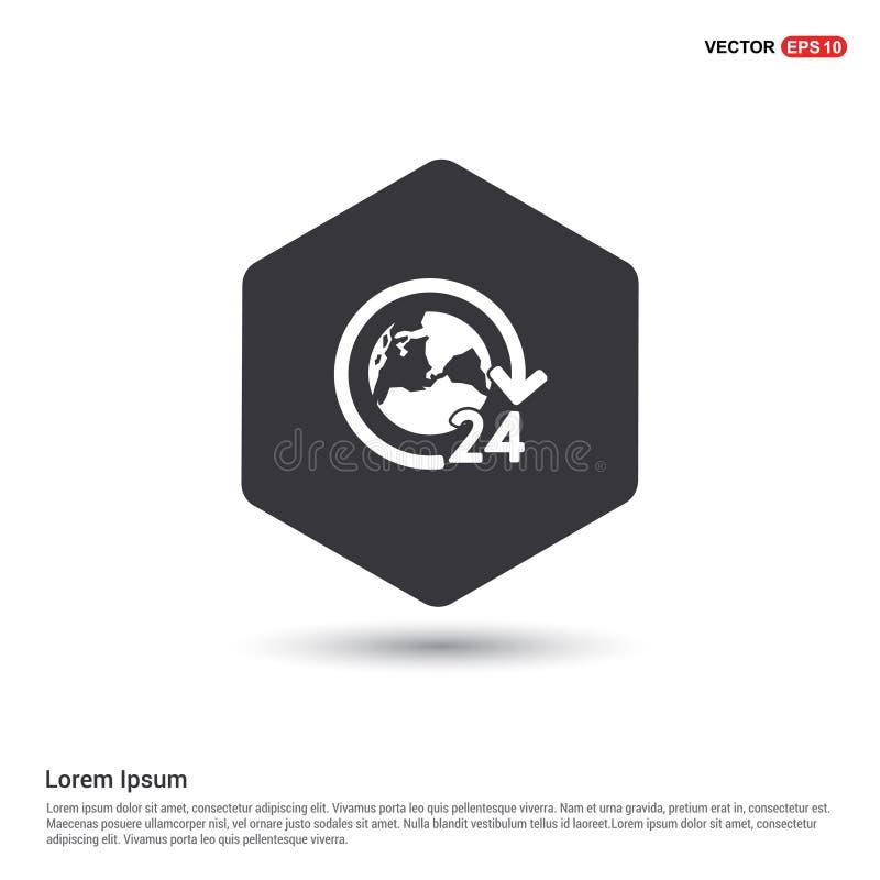 24 horas de icono mundial del servicio libre illustration