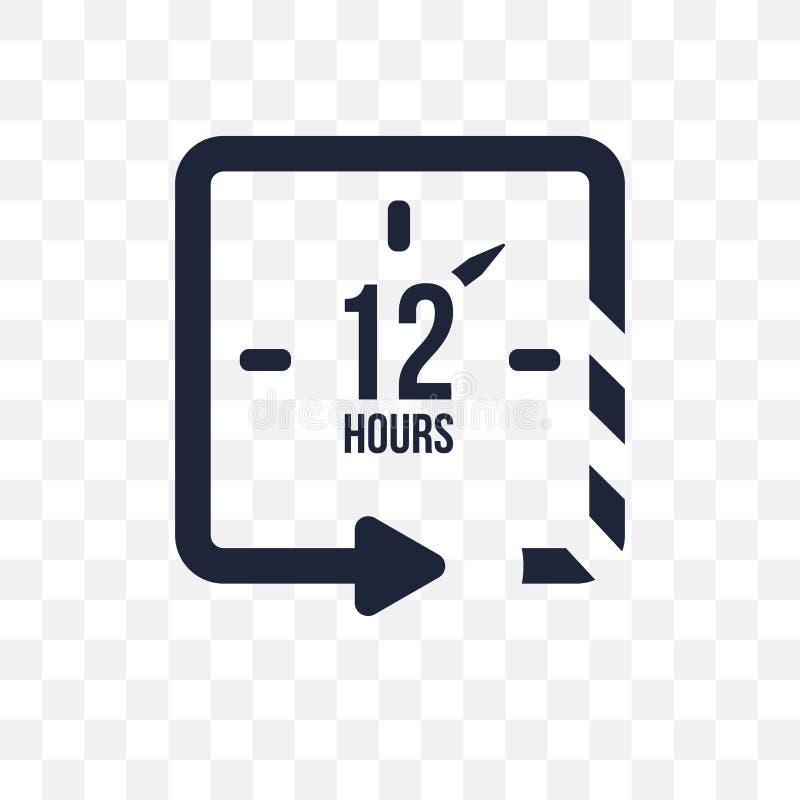 12 horas de icono transparente 12 horas de diseño del símbolo del mana del tiempo ilustración del vector