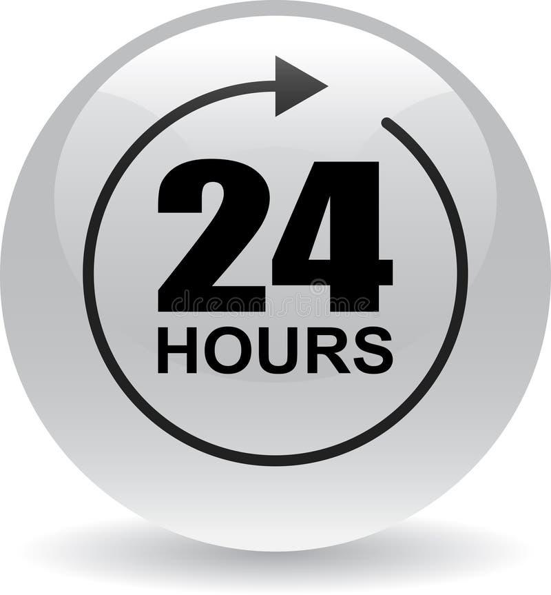 24 horas de la ayuda del web de gris del botón libre illustration
