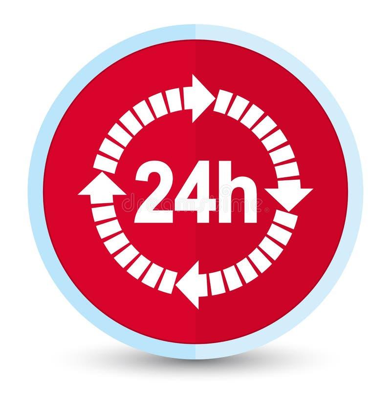 24 horas de la entrega de botón redondo rojo primero plano del icono libre illustration