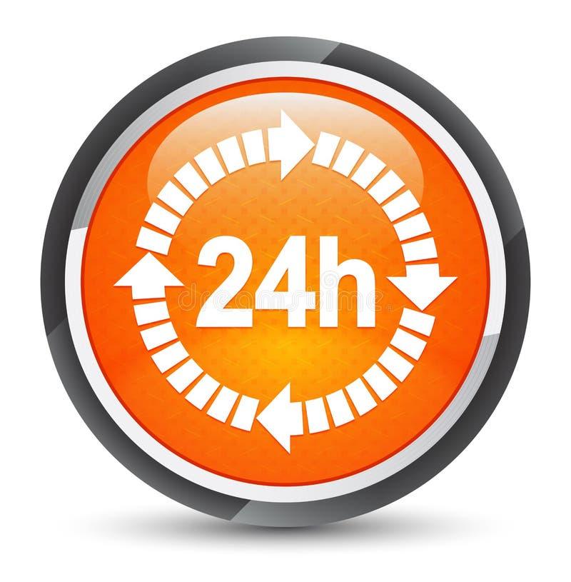 24 horas de la entrega del icono de botón redondo anaranjado de la galaxia libre illustration