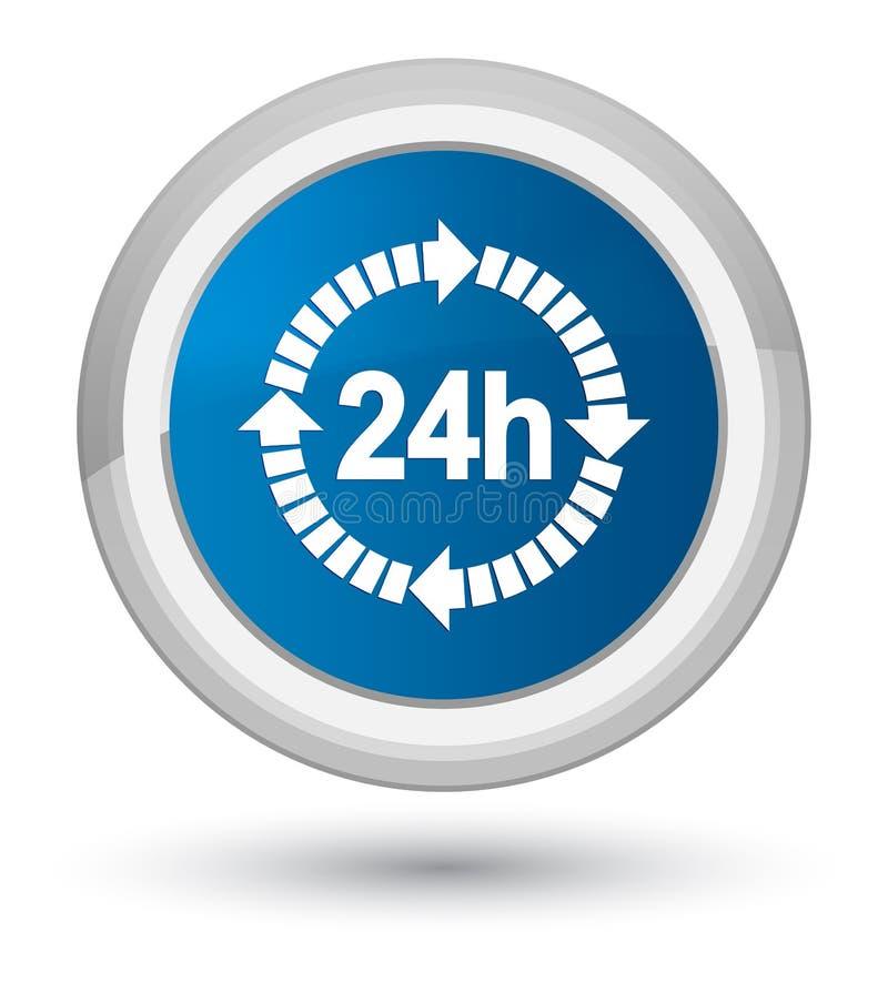 24 horas de la entrega del icono de botón redondo azul de la prima libre illustration