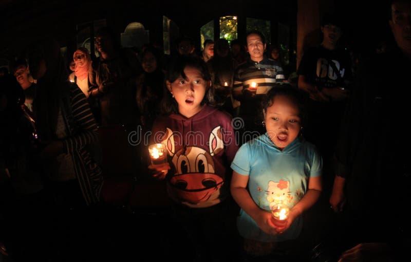 Horas de la tierra en Indonesia fotos de archivo libres de regalías