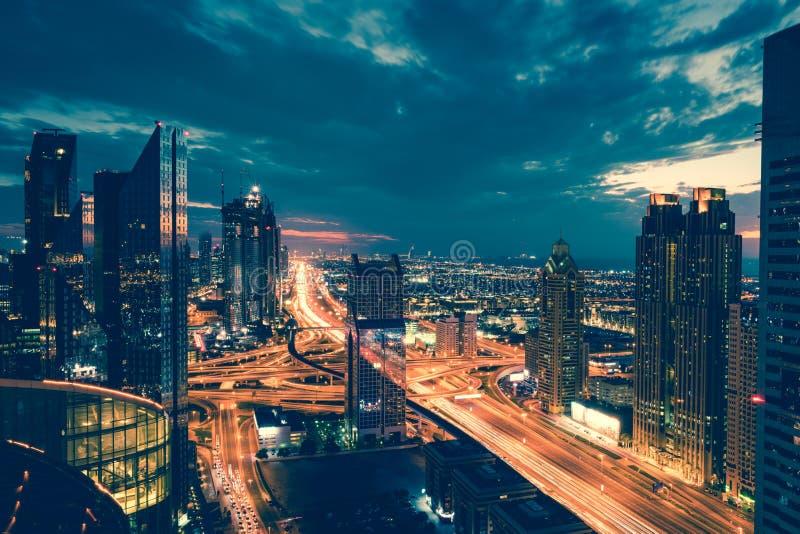 Horas de ponta de Dubai imagens de stock