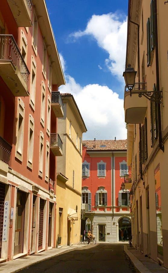 Horas de ponta em Fiorenzuola Itália imagem de stock