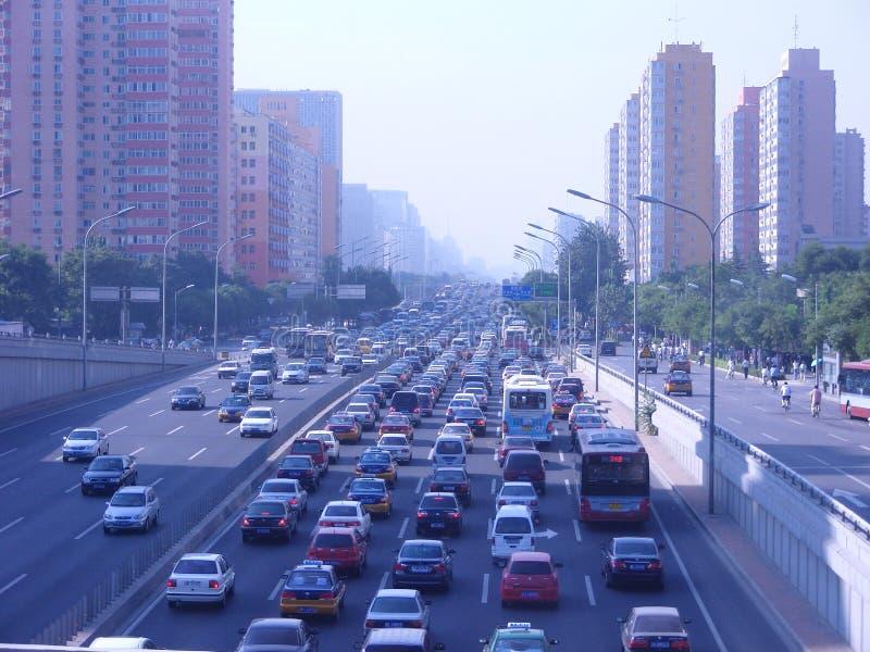 Horas de ponta em Peking imagem de stock royalty free