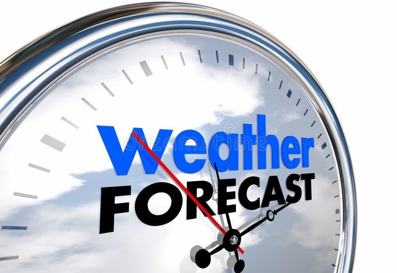 Horas de previsão de tempo que planeia adiante ilustração stock