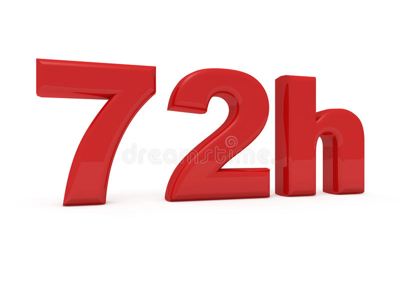 72 horas de serviço ilustração royalty free