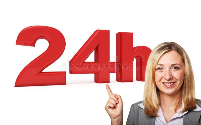 24 horas de servicio imagen de archivo