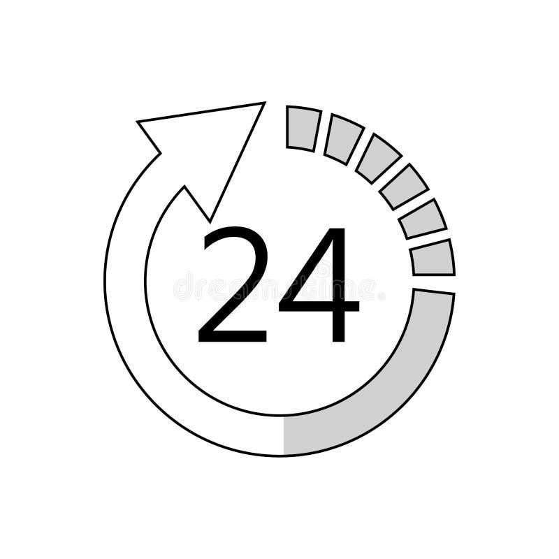 24 horas de servicio libre illustration