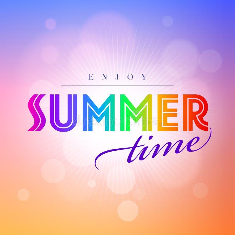 Horas de verão ilustração royalty free