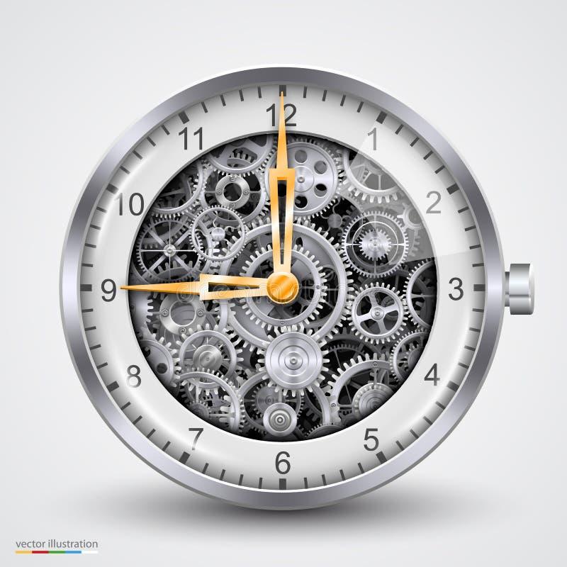 Horas do vetor das engrenagens ilustração do vetor