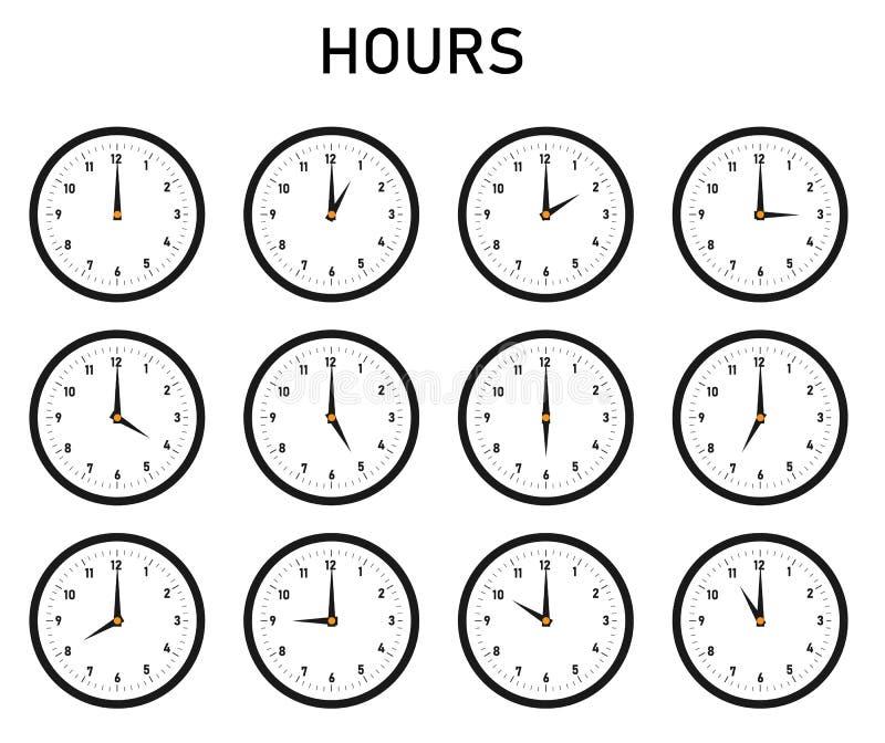 Horas ilustración del vector