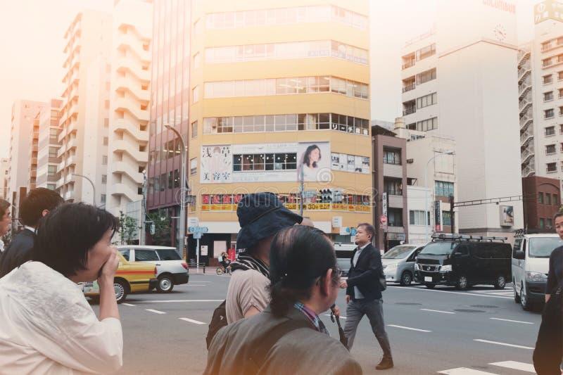 Horas punta en Tokio fotografía de archivo
