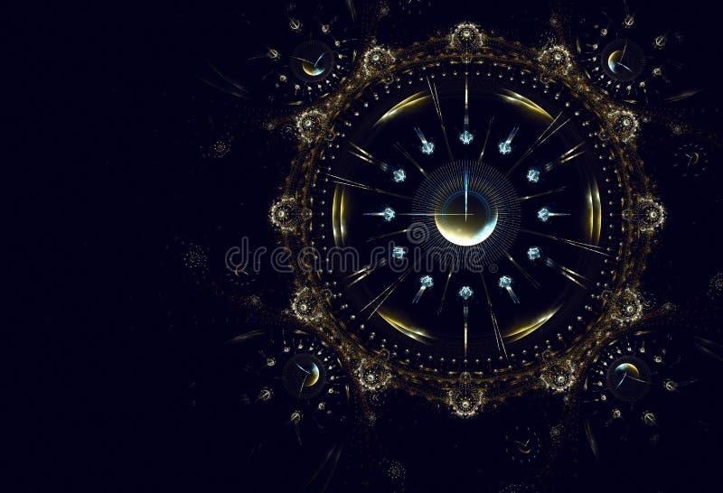 Horas, tiempo, vida, Año Nuevo ilustración del vector