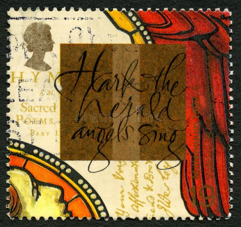 Horchen Sie Herald Angels Sing lizenzfreie stockbilder